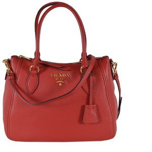 Prada Vitello Phenix Leather Crossbody Purse Bag